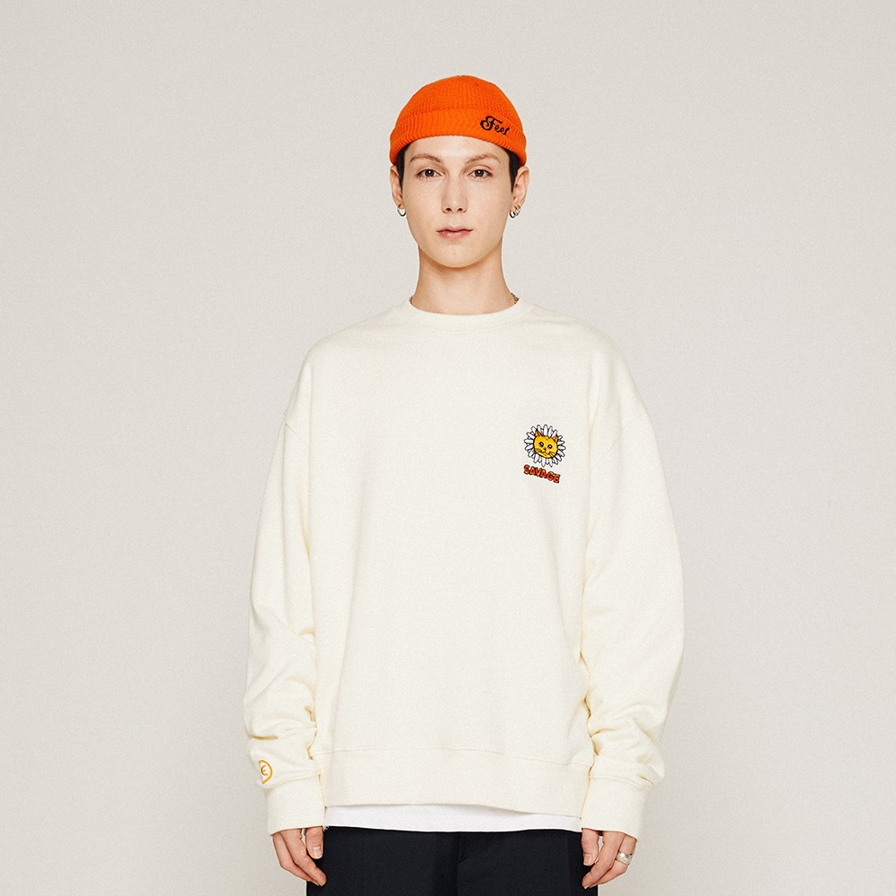 [필이너프] DAISY CAT CREWNECK / CREAM