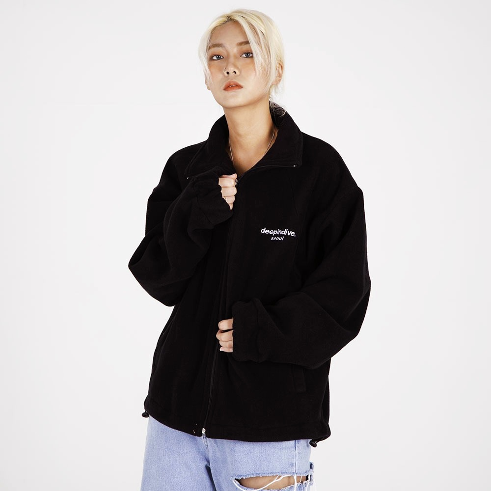 [딥인다이브] DEEP FLEECE ZIPUP(BLACK)