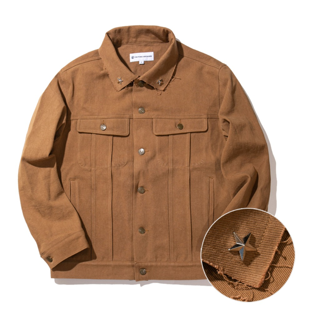 [킹아카이브]Trucker Jacket -Brown