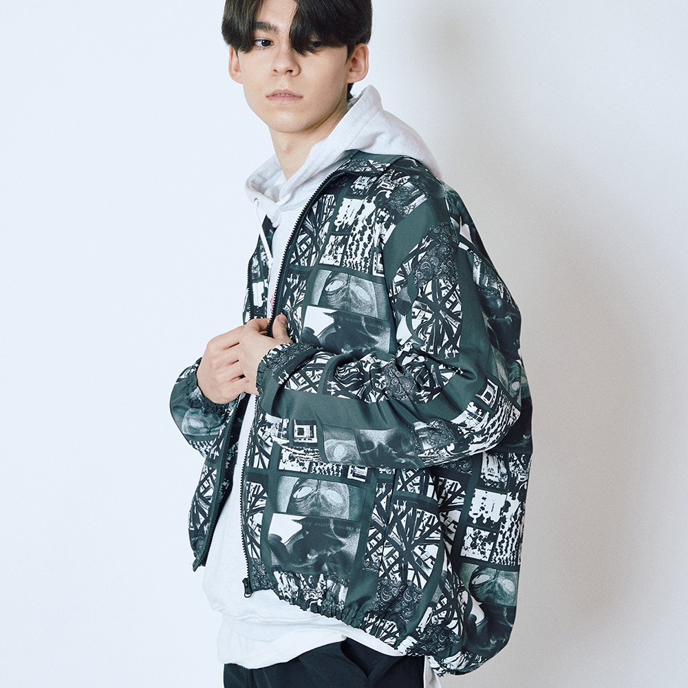 [엔에프에프오] CHAOS PRINT JACKET BLACK