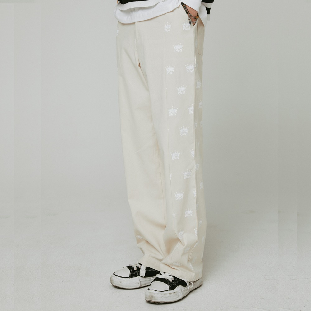 [필이너프] Crown Work Pants / CREAM