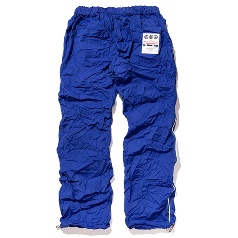 [킹아카이브]Crinkled Track Pants -Blue
