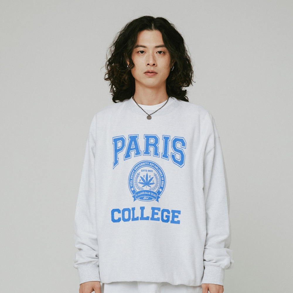 [필이너프] College Reversible Crewneck / GRAY
