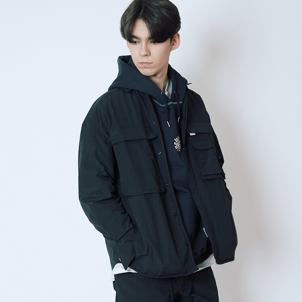 [엔에프에프오] multi cargo jacket black