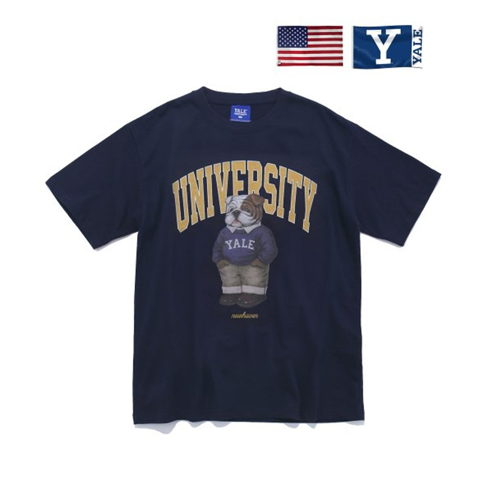 [PHYS.ED DEPT] PREPPY HANDSOME DAN TEE NAVY