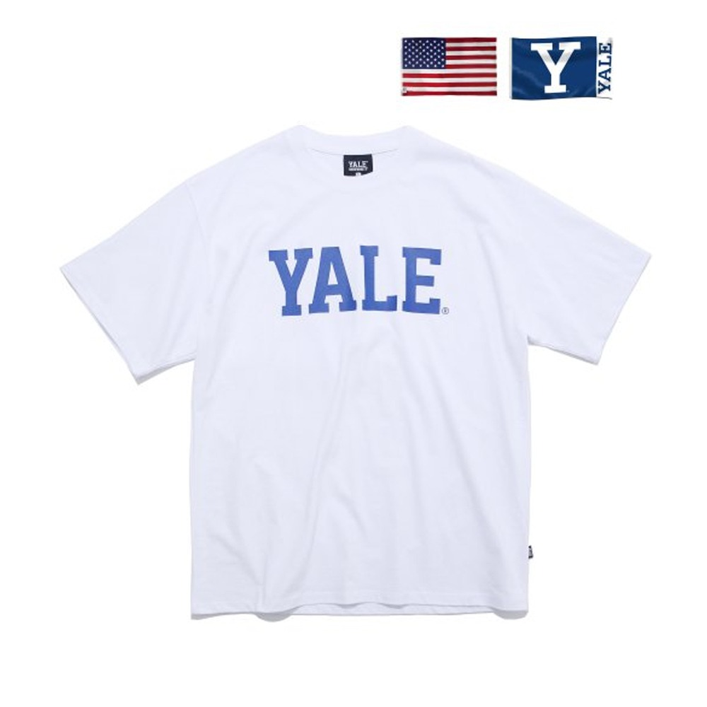 [PHYS.ED DEPT] IVY LEAGUE TEE WHITE/BLUE