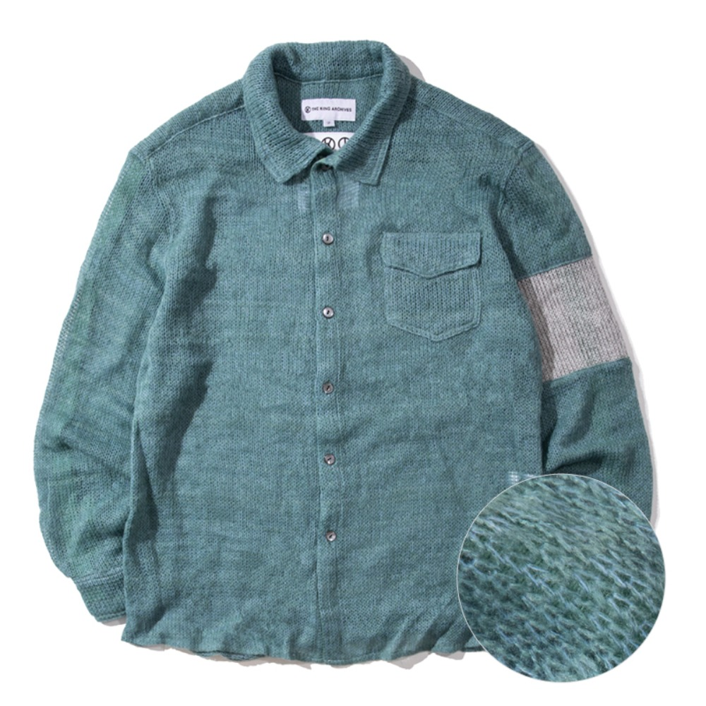 [킹아카이브]Mohair Shirt -Mint