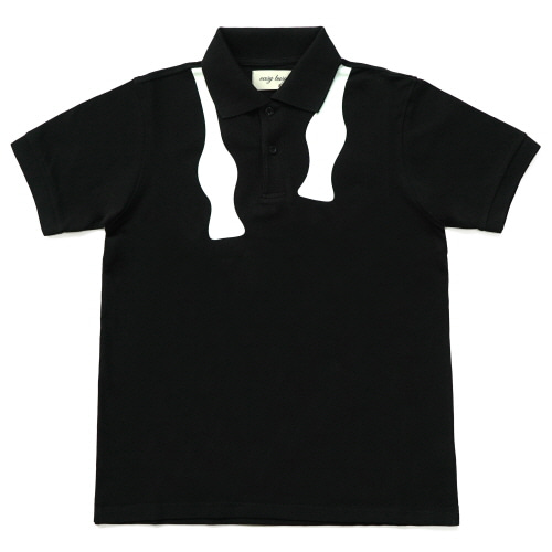 [EASY BUSY] Bow Tie PK Shirts - Black