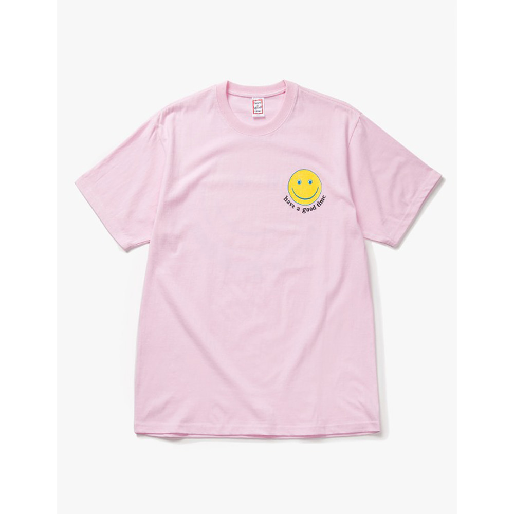 [Have a good time] have a good Smile S/S Tee - Pink