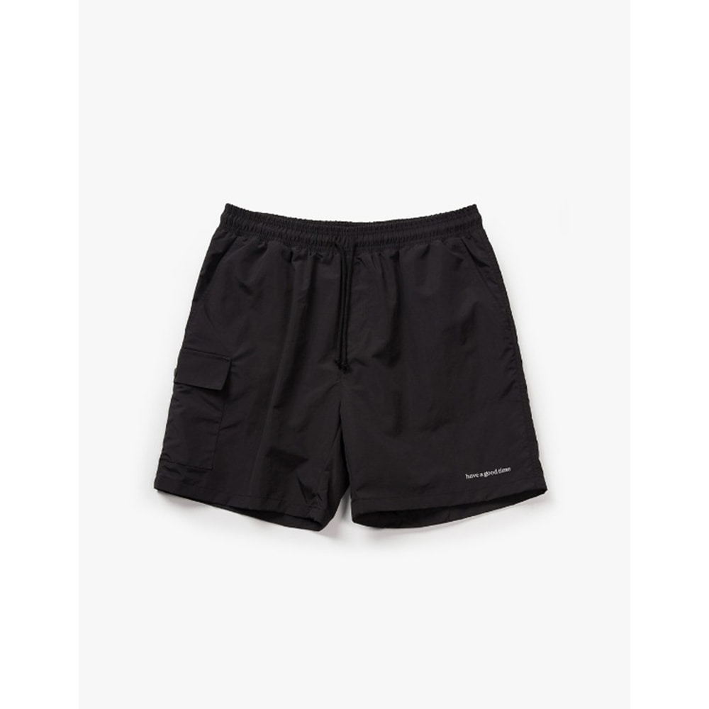 [Have a good time] Aquallum Mesh Pocket Shorts - Black