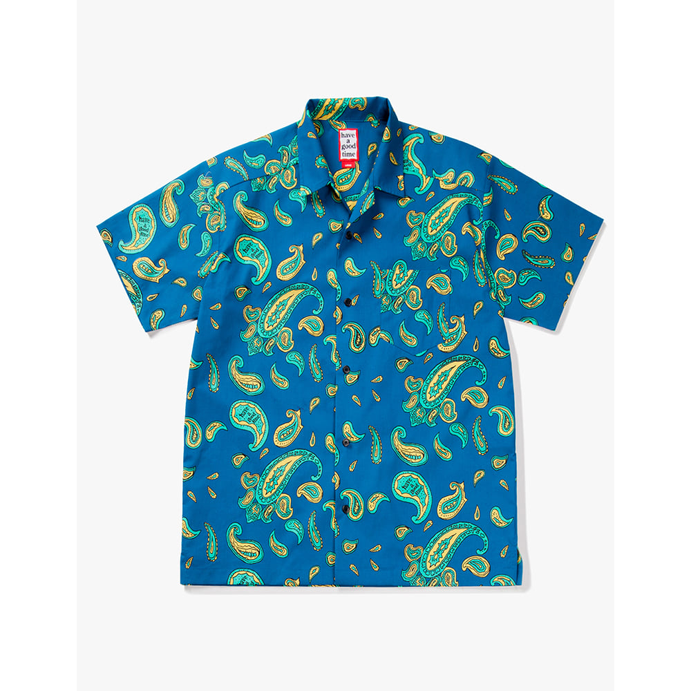 [해브어굿타임] Aloha S/S Shirts - Paiseley Deep Blue