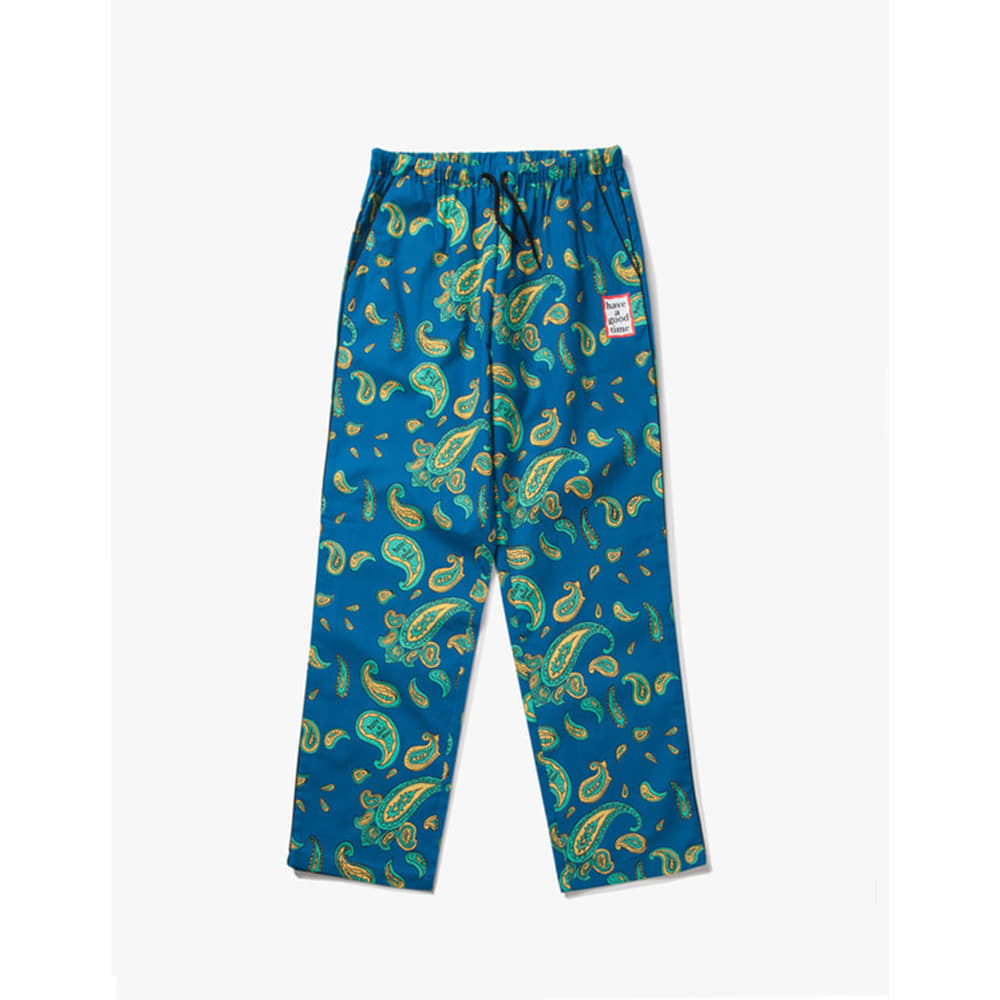 [Have a good time] Paisley Easy Pants - Paiseley Deep Blue