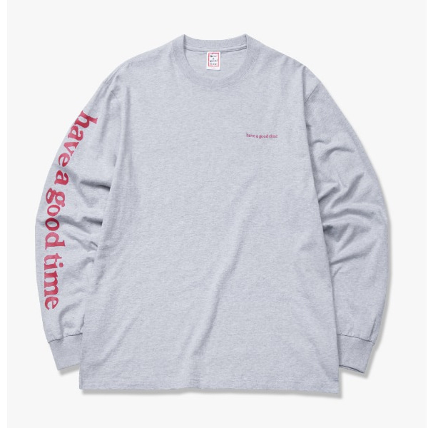 [have a good time] ARM SIDE LOGO L/S TEE - Heather Grey