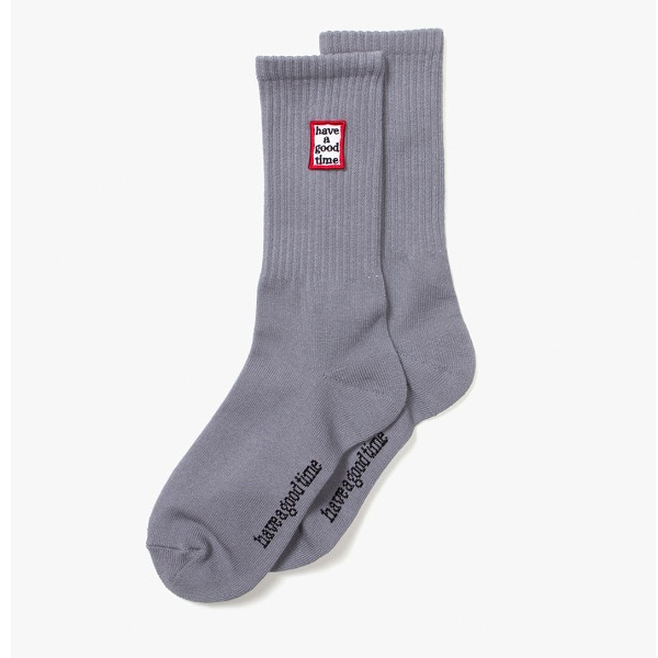 [have a good time] FRAME SOCKS - Heather Grey