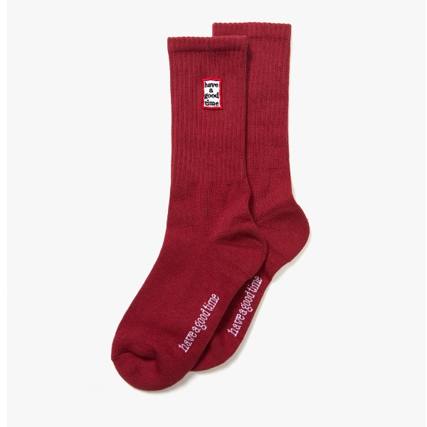 [have a good time] FRAME SOCKS - Maroon