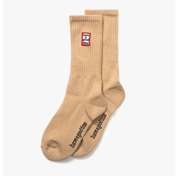 [have a good time] FRAME SOCKS - Sand