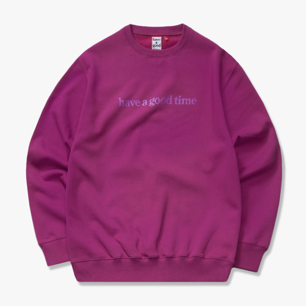 [have a good time] SIDE LOGO CREWNECK - Purple