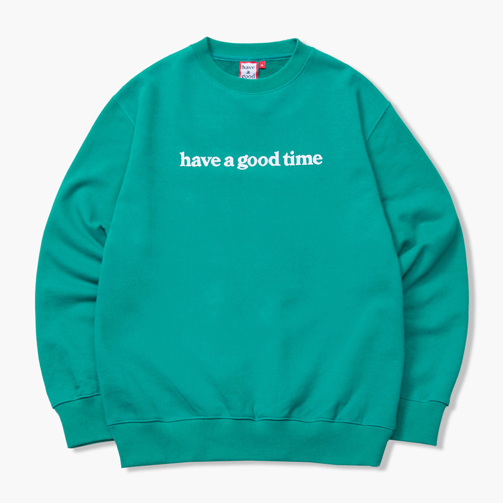 [have a good time] SIDE LOGO CREWNECK - Smokey Green