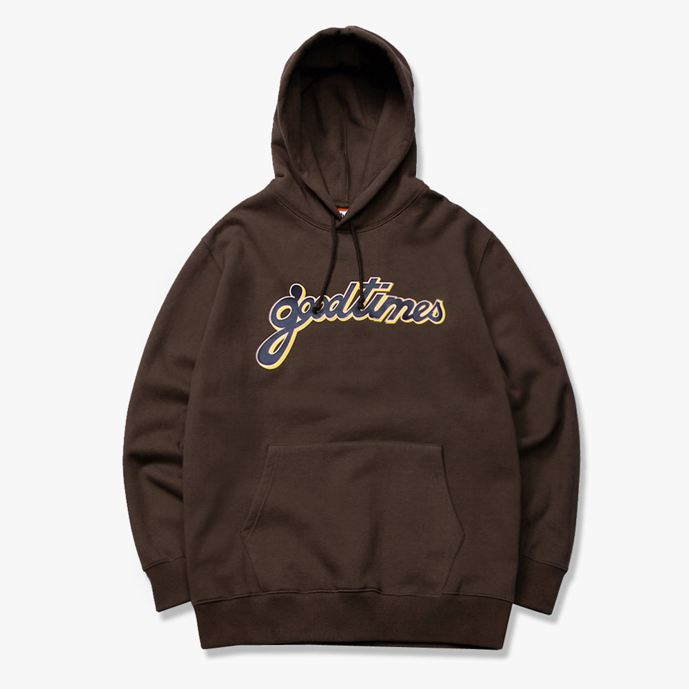 [have a good time] GOOD TIMES PULLOVER HOODIE - Chocolate