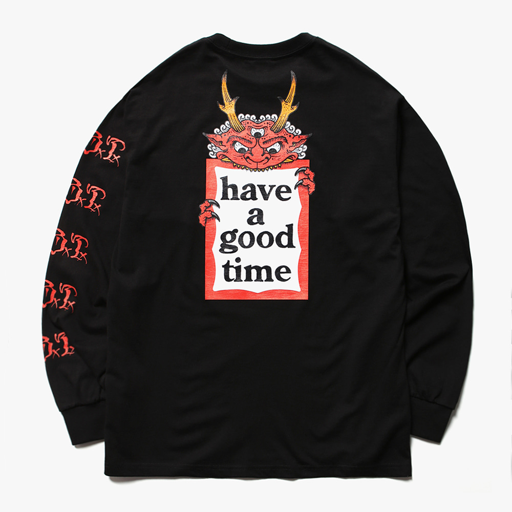 [have a good time] HENBO×G×B×T×haveagoodtime L/S TEE - Black