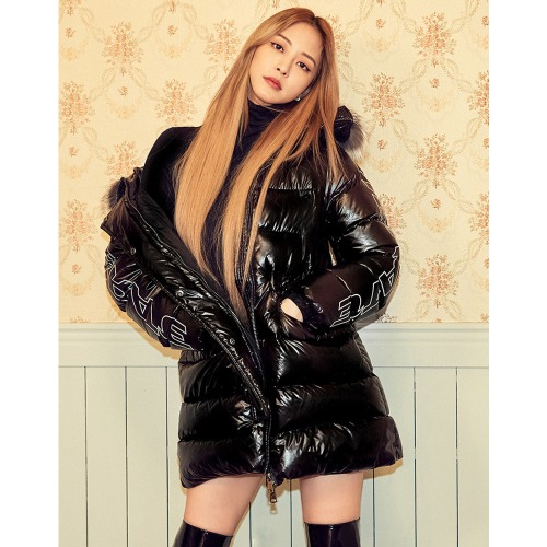 [VIBRATE] - GLOSS HOODED DUCKDOWN JACKET(BLACK)[예약발송]12월17일출고예정
