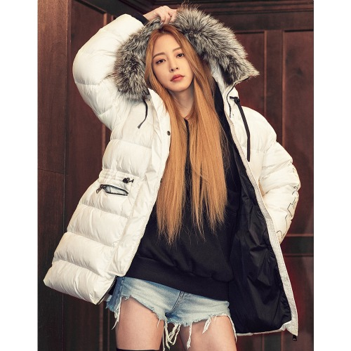 [VIBRATE] - GLOSS HOODED DUCKDOWN JACKET(WHITE)예약발송]12월17일출고예정